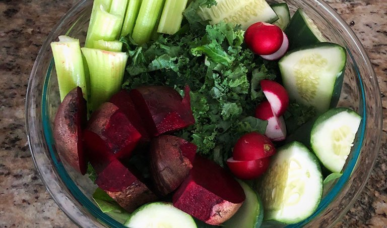 Colorful Veggie Juice